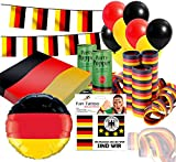TK Gruppe Timo Klingler XXL Deko Dekoration Set Fanartikel Tischdekoration Deutschland mit über 50 Teilen für Fußball EM 2021