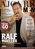 AJOURE Men Cover Monat September 2016 mit Ralf Moeller