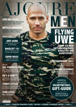 AJOURE Men Cover Monat Februar 2017 mit Flying Uwe