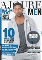 AJOURE Men Cover Monat Oktober 2015 mit Marlon Yates