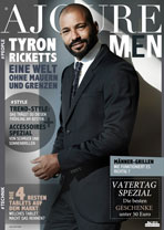 AJOURE Men Cover Monat Mai 2016 mit Tyron Ricketts