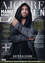 AJOURE Men Cover Monat August 2016 mit Manu Bennett