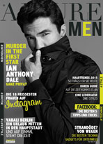 AJOURE Men Cover Monat August 2015 mit Ian Anthony Dale