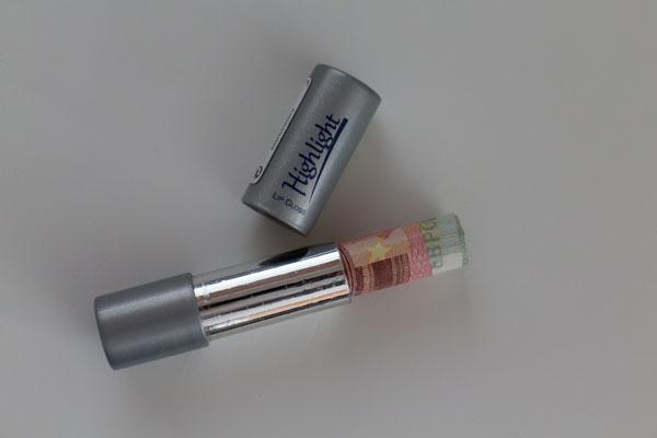Geld in Kosmetik Verpackung verstecken