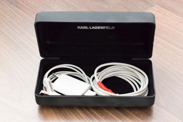 10 clevere Reisetipps Kabel im Brillenetui verstauen