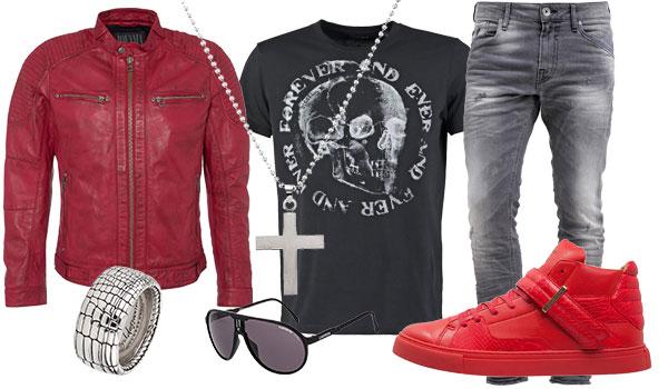Lederjacke Style rockig & lässig