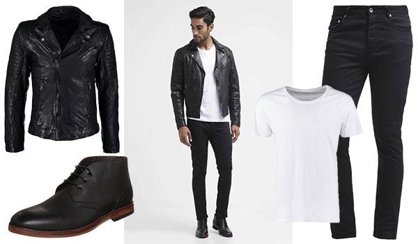 Männer Streetstyle Schwarz-Weiß Look