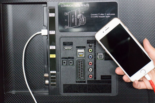 Handy laden per USB am TV