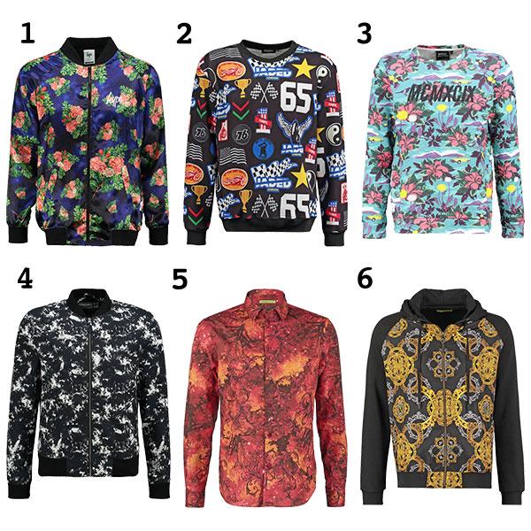Männer Print Shirts Jacken Pullover
