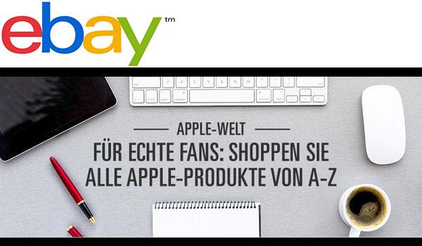 Entdecke die neue eBay Apple Welt!
