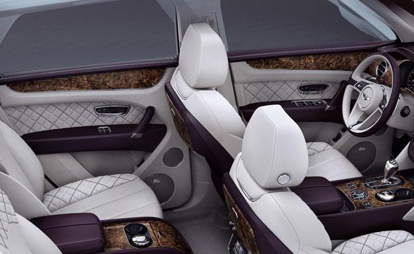 Bentley Bentayga Innenansicht