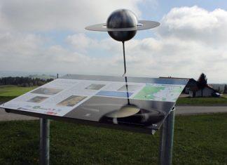 Saturnstation des CvL-Planetenwegs in der Eschacher Wanderregion