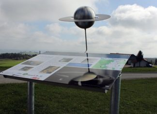 Saturnstation des CvL-Planetenwegs in der Eschacher Wanderregion