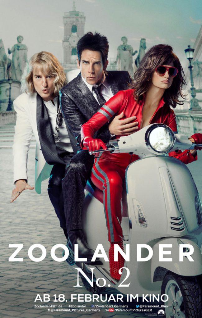 Zoolander 2 Kinoplakat