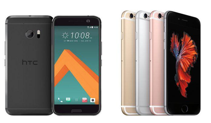 HTC 10 vs. iPhone 6