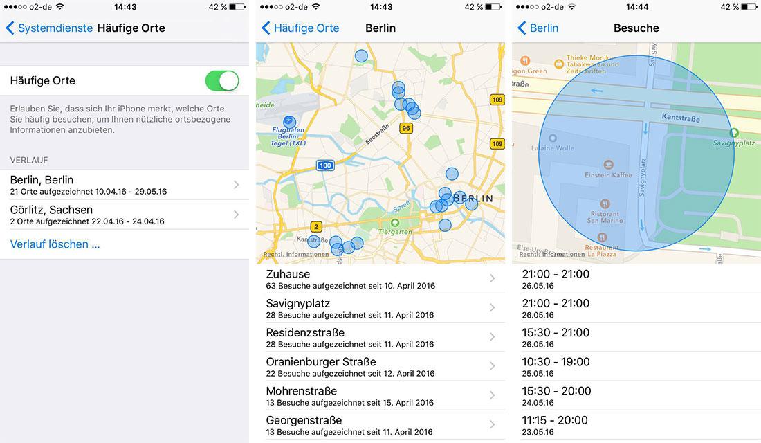 iPhone häufige Orte anzeigen deaktivieren