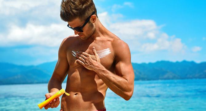 Männer Sonnenschutz