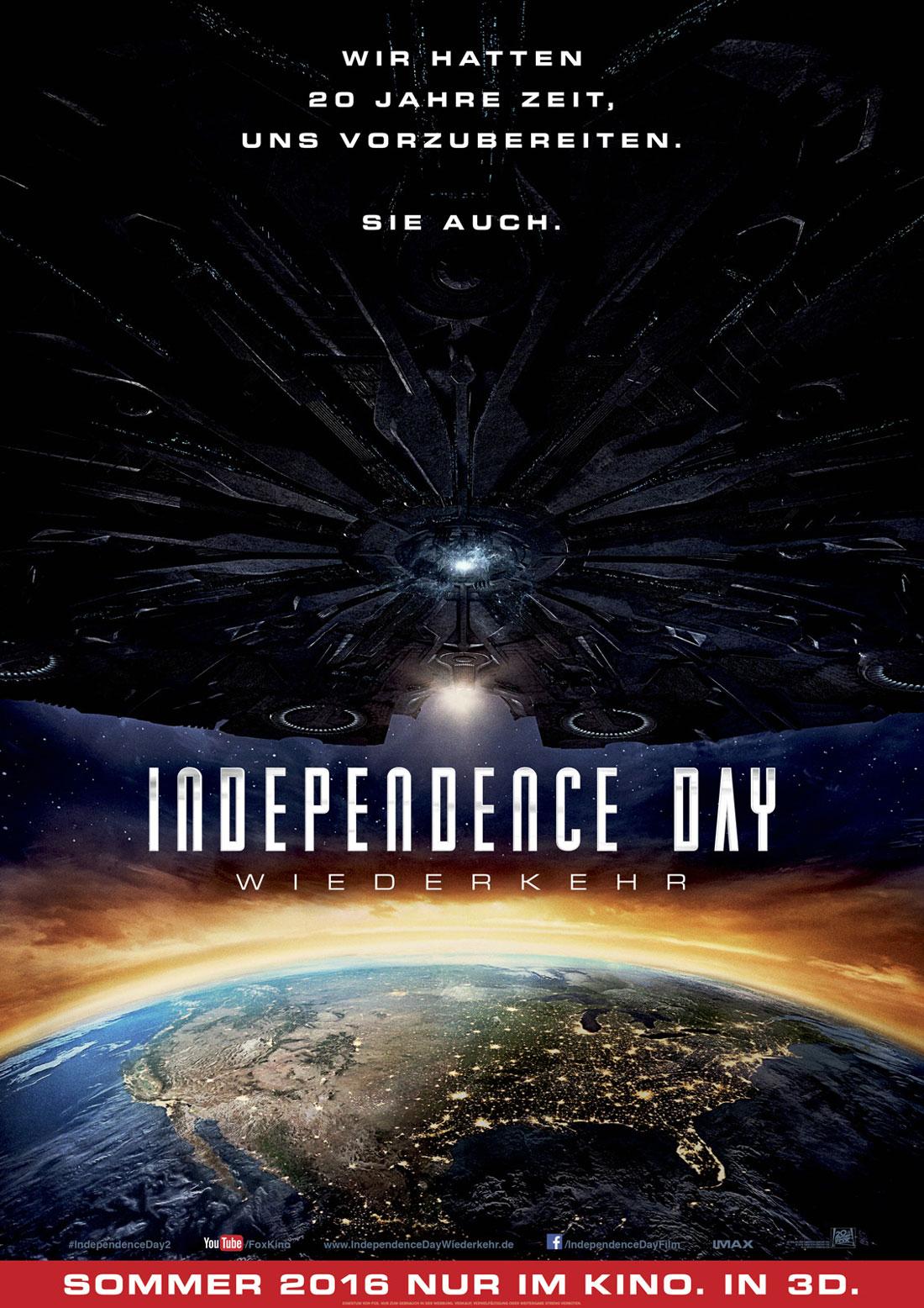 Independence Day: Wiederkehr Filmposter