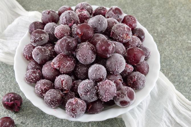 gefrorene Weintrauben