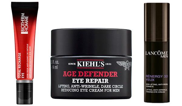 Männer Augenpflege