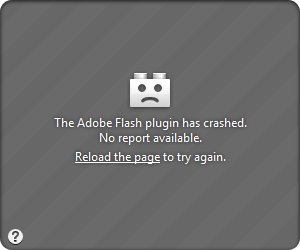 Adobe Flash Plugin Absturz