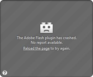 Adobe Flash Plugin Absturz