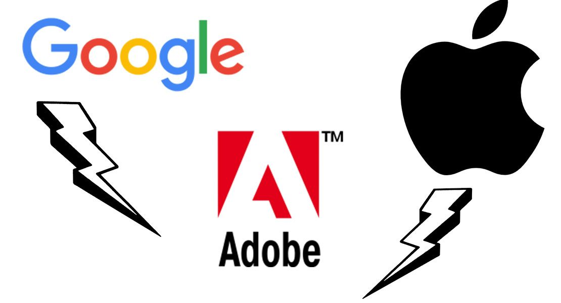 Google Apple Adobe Konflikt