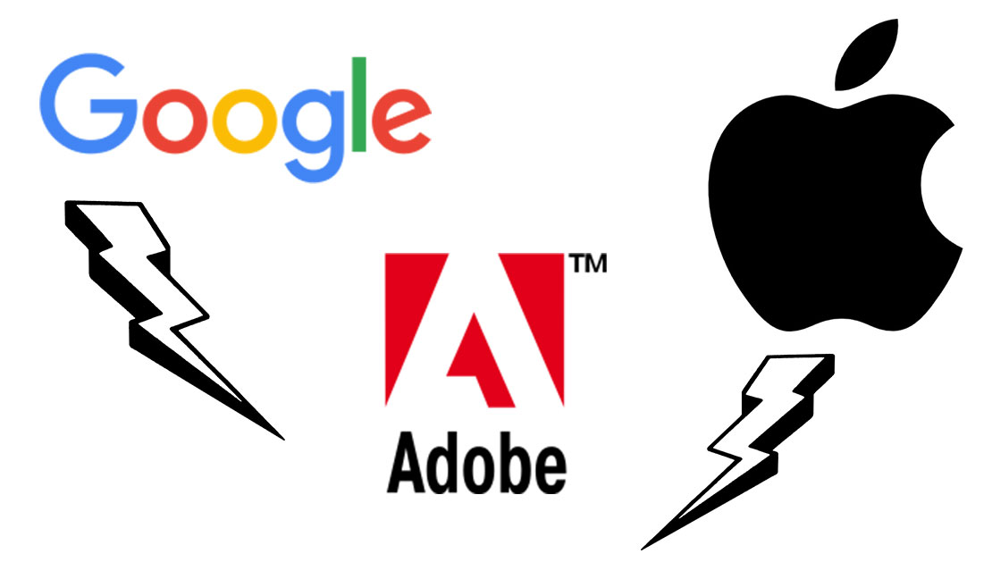 Google Apple Adobe Konflikt