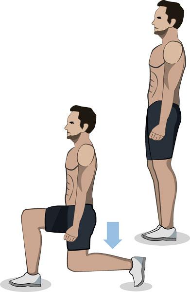 Ausfallschritt ohne Gewichte