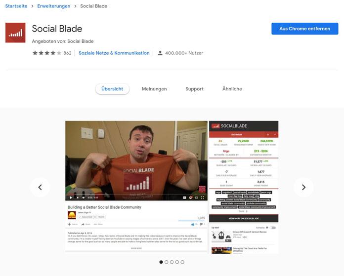 Socialblade Tools für YouTube