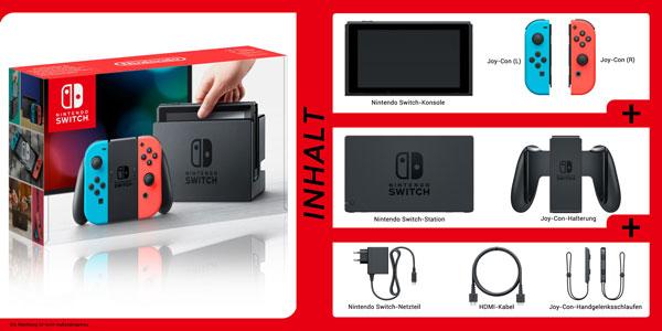 Nintendo Switch Box Inhalt
