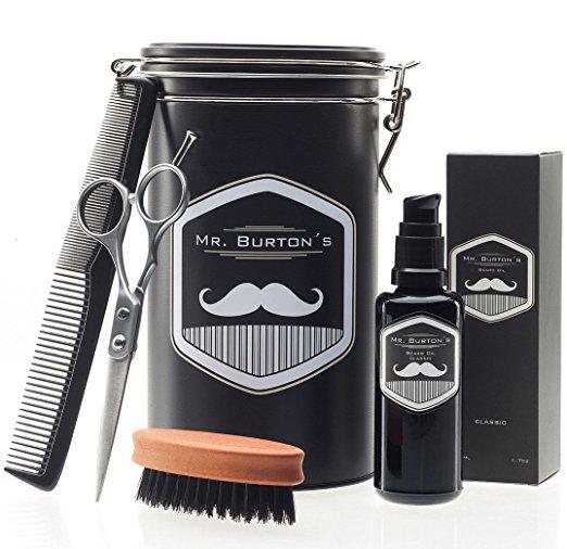 Mr. Burton's Hochwertiges Bartpflege-Set