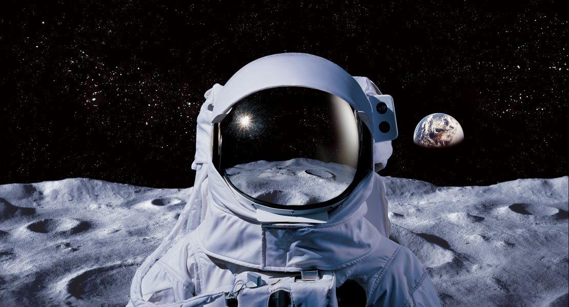 Häuser auf dem Mond