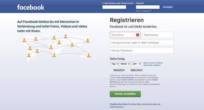 Was Facebook alles über dich weiß