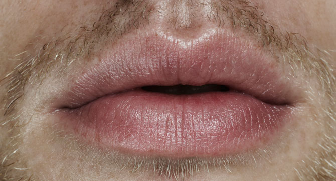 Männer lippen
