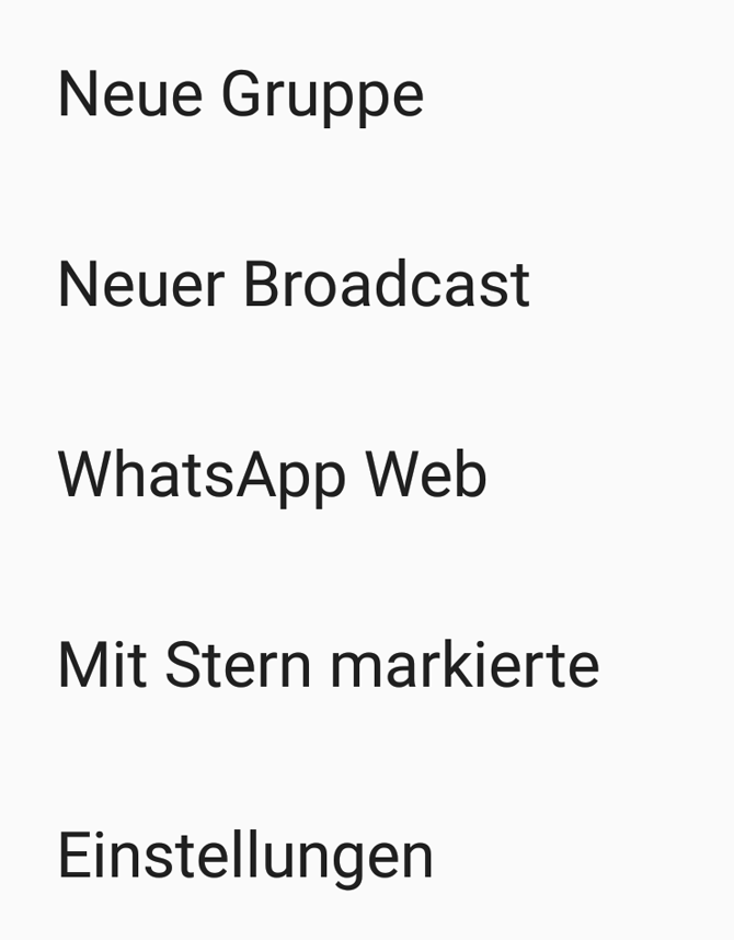 WhatApp Web WhatsApp-Funktionen