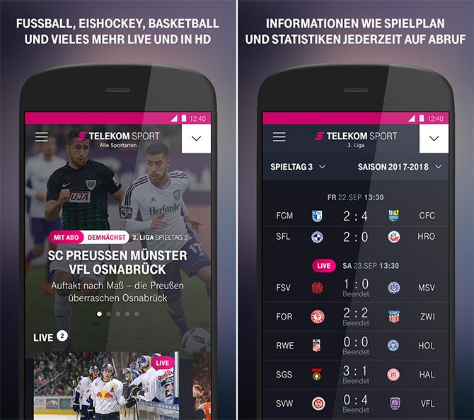 Telekom Sportpaket App