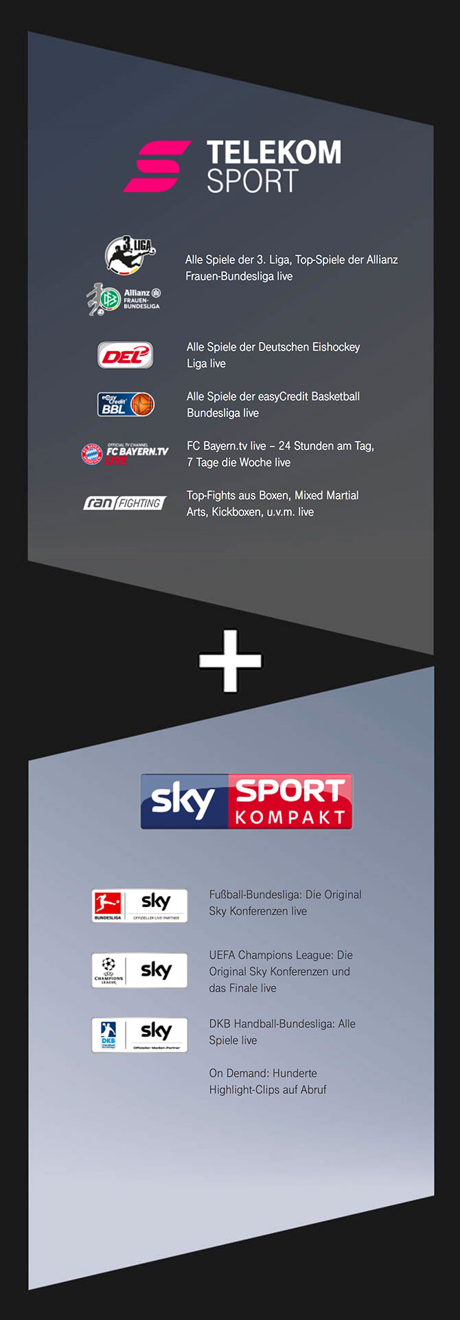 Telekom Sportpaket mit Sky Sport Kompakt