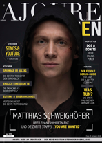 AJOURE Men Cover Monat Juni 2018 mit Matthias Schweighöfer