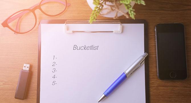 Wie du eine Bucket List erstellst, die dein Leben verändert