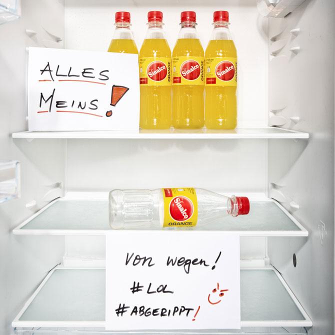 Sinalco Orange im Kühlschrank