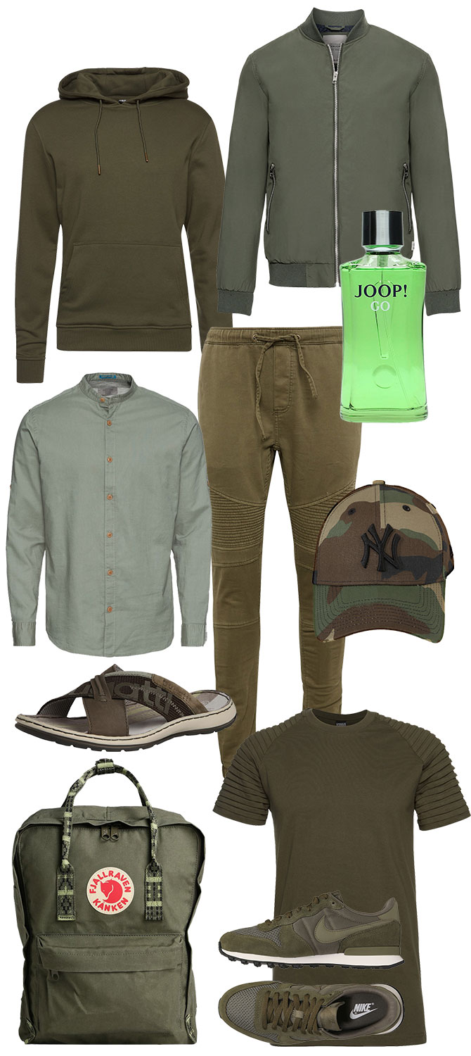 Trend-Farbe green olive