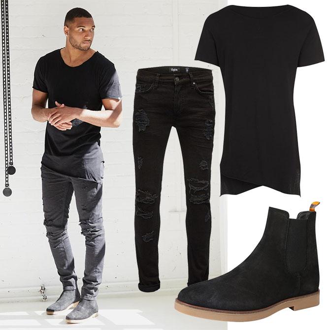 Black & White Steet Style Look für Männer