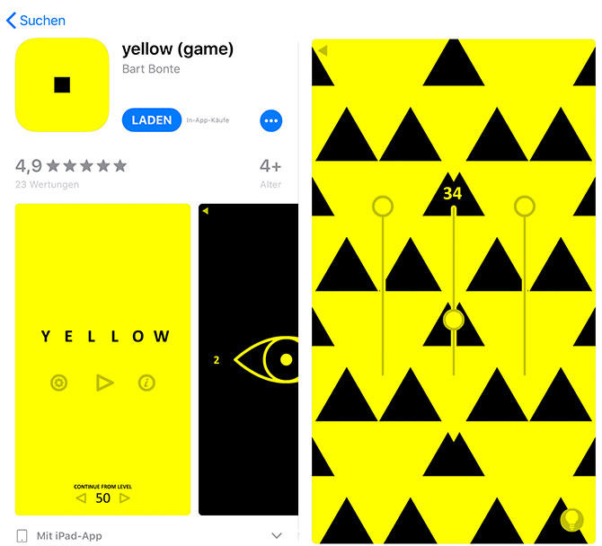 Yellow Game App