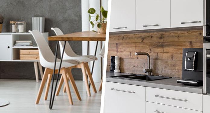 Möbel und Küche
