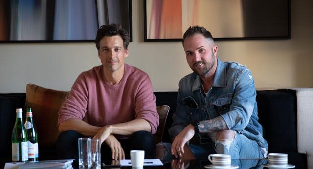 Florian David Fitz und Daniel Heilig beim Interview