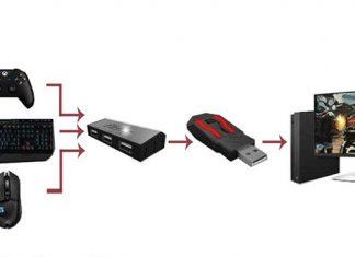 Konsole mit Maus und Tastatur