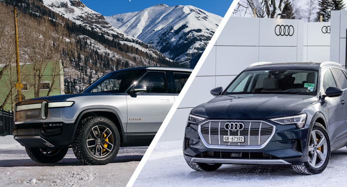 Rivian und Audi Elektroauto