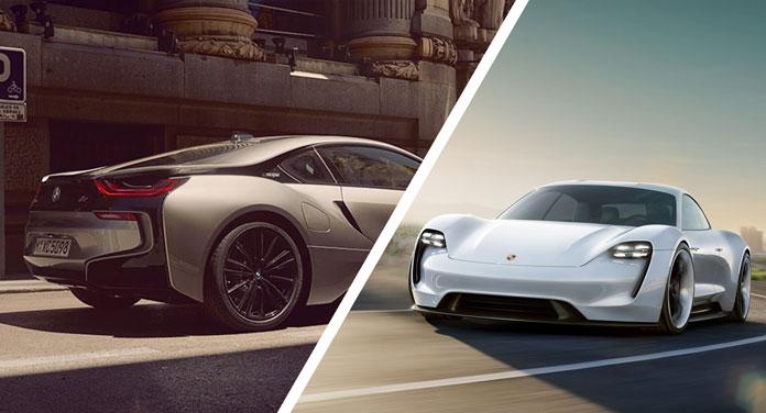 BMW und Porsche Elektroauto