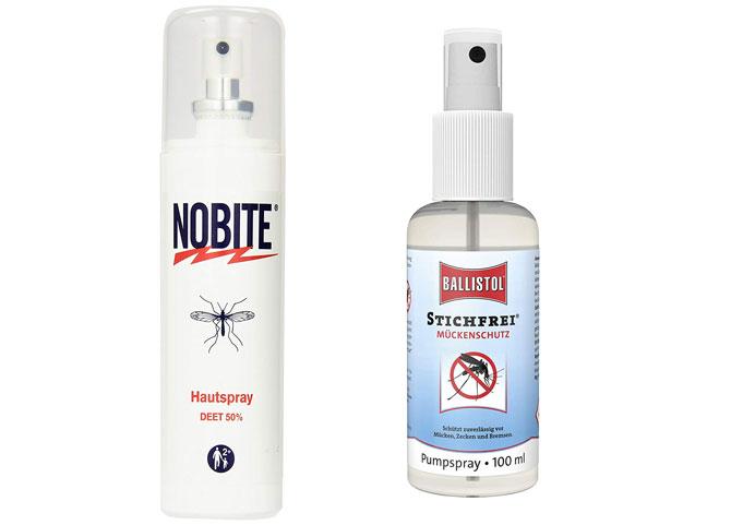 Mückenspray in der Falsche